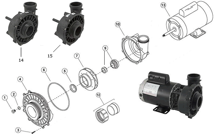 waterway executive 56 frame pumps & parts spacare heat pump wiring diagram  waterway pumps help
