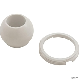 Balboa Water Group Hydro Jet Eyeball And Retaining Ring White
