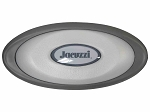 Jacuzzi® OEM J-300 Series Spa Pillow with LED Compatible Insert 2472-824