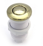 Custom Molded Products Air Button Polished Brass 25083-003