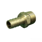 Barbed Adapters (Threaded, Brass)