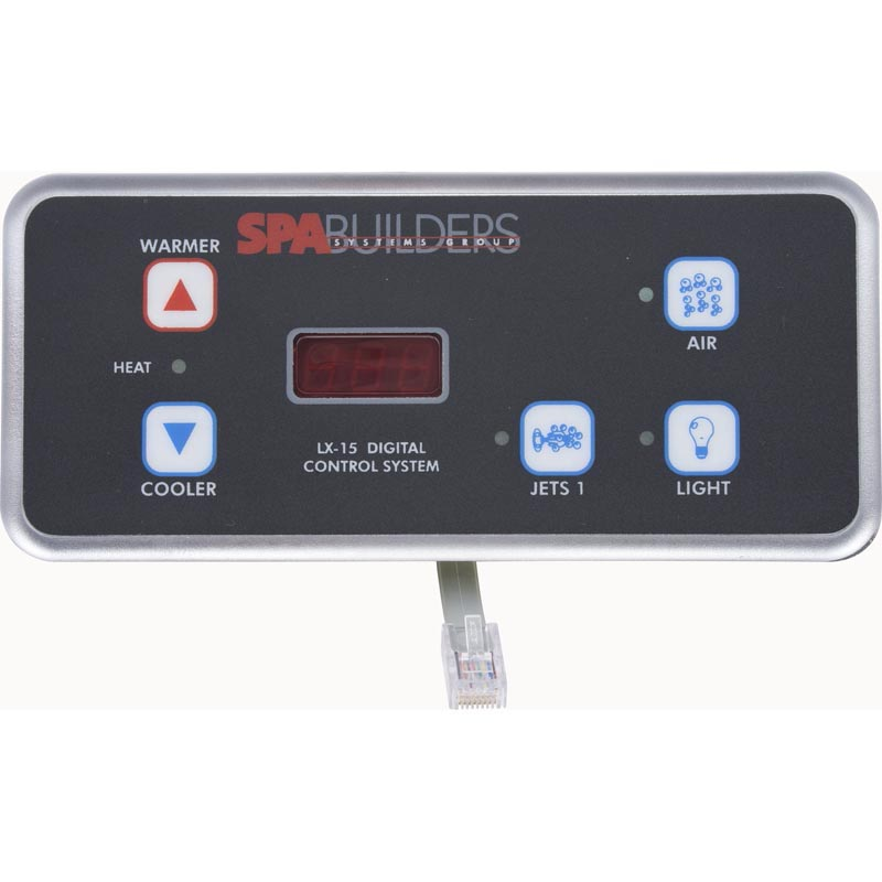 Spa builders lx 15 5 button digital topside 3 00 0190 for Spa builders