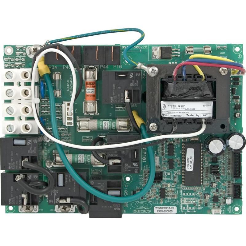 Hydro Quip Circuit Board ECO-2 120 Volts 33-0024-R6 | Hydroquip Wiring Diagrams |  | Spa Care Center