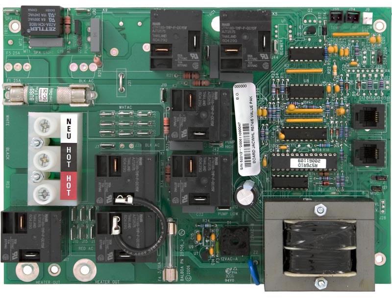 r574 r576 jacuzzi circuit board 52213 rh spacare com Spa Circuit Board Wiring Diagram Spa Builders Wiring Diagrams