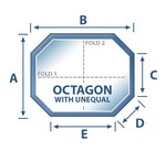 Octagon w/Unequal Sides Spa Cover