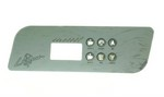 La Spa Gecko Topside Control Panel K-44 OVERLAY ONLY PL-49536