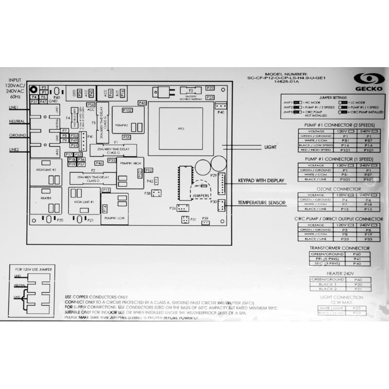 marquis spa wiring diagram hot spot gecko control box system 2002 2005  72469   hot spot gecko control box system 2002 2005  72469