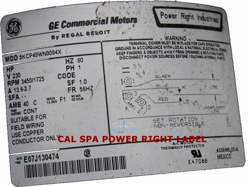 Cal Spa Pump Wiring Diagram - Wiring Diagram Web Jacuzzi Pump Motors Wiring Diagrams on