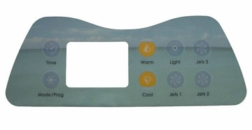 Artesian Spa Topside Control Overlay Only 11-0036-77