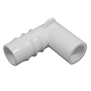 "411-3500 Waterway PVC Ell  Barbed Adapter 1/2"" Spig x 3/4"" Barb"