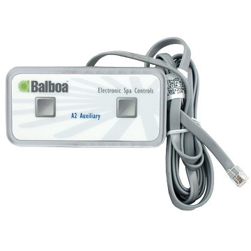 Balboa Duplex 2-Button Auxiliary Top Side 18' Cord 54332