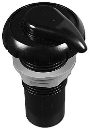 "Waterway 1"" Notched Air Control Black"