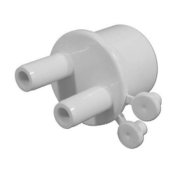 "Waterway Manifold 1"" Spigot x (2) 3/8"" Barbs with 2 Plugs 672-4010"