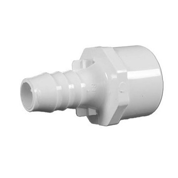 "672-4320 Waterway PVC Barbed Adapter 1-1/4"" Spig x 1"" Slip x 3/4"" Barb"