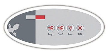 Gecko Remote Topside Overlay/Decal Only 9916-100136