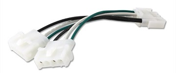 GECKO CABLE SPLITTER PP-1 AMP MALE TO 2 FEMALE, LENGTH 6'' 9920-401369