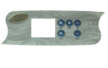 La Spa Gecko Topside Control Panel K-72 OVERLAY ONLY PL-49535-06