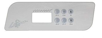 La Spa Gecko Topside Control Panel K-44 OVERLAY ONLY PL-49540