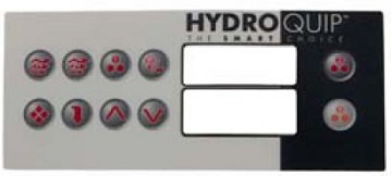 Hydro Quip Top-side HT-2 10 Button Overlay Only