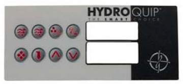 Hydro Quip Top-side HT-2 8 Button Overlay Only