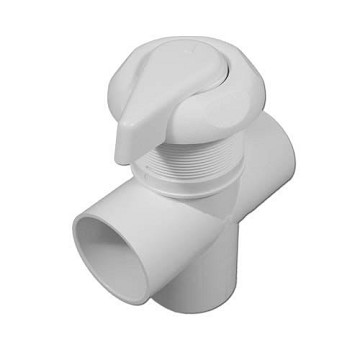 "Hydro Flow 2"" Three Way Scalloped Diverter Valve (White)"