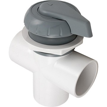 "Hydro Flow 2"" Three Way Notched Diverter Valve (Gray)"