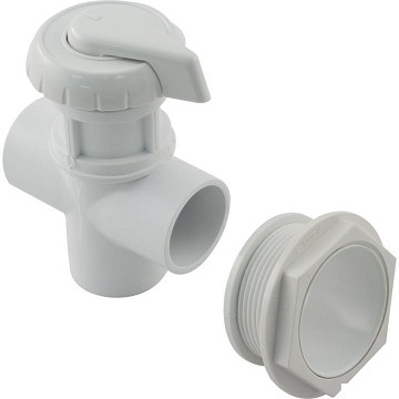 "Hydro Flow 1"" Three Way Notched Diverter Valve (White)"