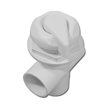 "Hydro Flow 1"" Three Way Scalloped Diverter Valve (White)"