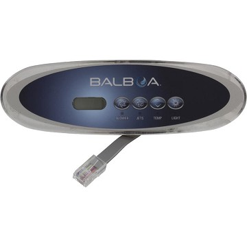 Balboa Water Group 4 Button VL260 LCD Gray Oval Topside 53777