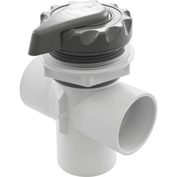 "Waterway 2"" 3 Way Scalloped Diverter Valve (Gray)"